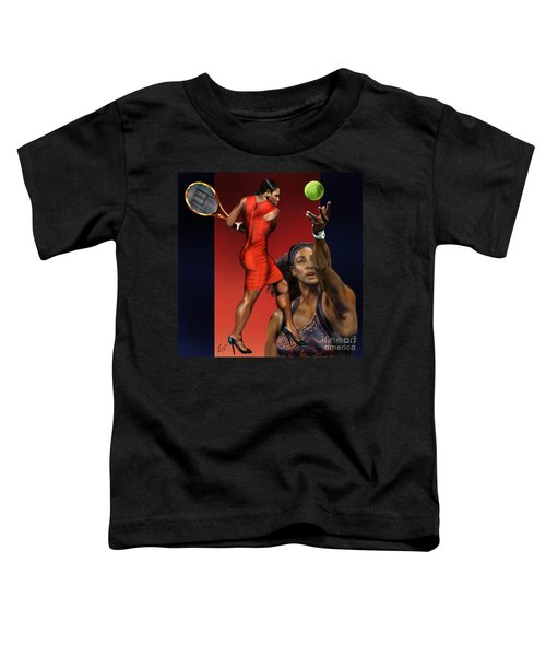 Sensuality Under Extreme Power - Serena The Shape Of Things To Come Toddler T-Shirt by Reggie Duffie