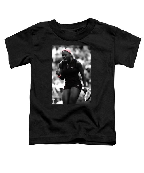 Serena Williams On Fire Toddler T-Shirt by Brian Reaves