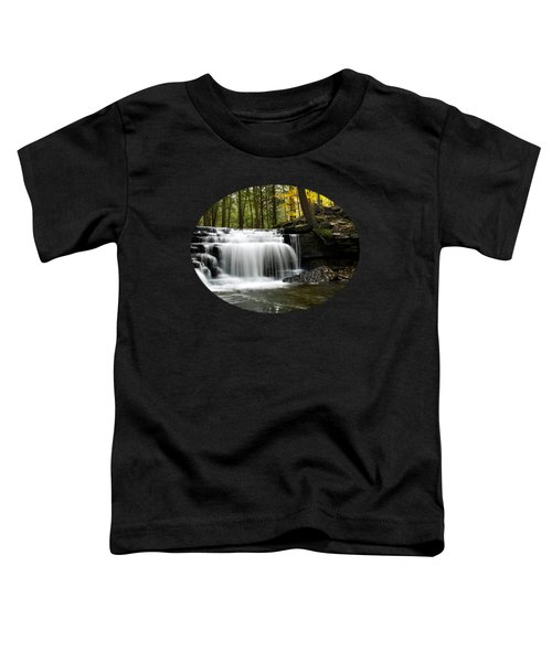 Serenity Waterfalls Landscape Toddler T-Shirt by Christina Rollo