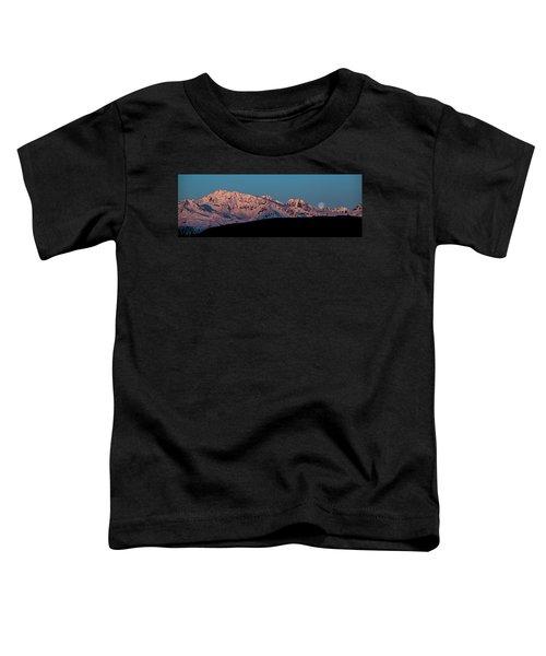 Setting Moon Over Alaskan Peaks Vi Toddler T-Shirt