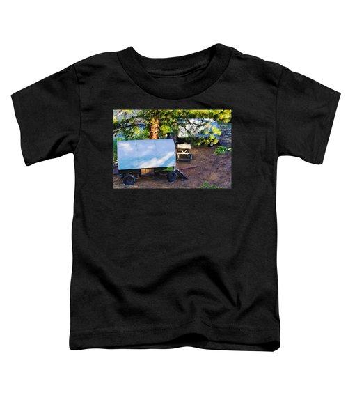 Sheep Wagons On Salmon River, Idaho Toddler T-Shirt