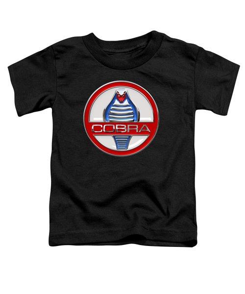 Shelby Ac Cobra - Original 3d Badge On Black Toddler T-Shirt