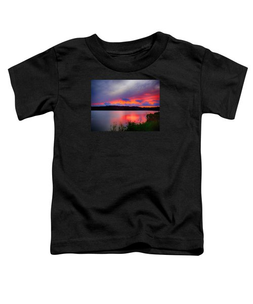 Toddler T-Shirt featuring the photograph Shelf Cloud At Sunset by Bill Barber
