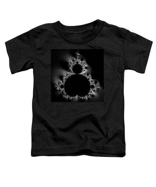 Shiny Cool Mandelbrot Set Black And White Toddler T-Shirt