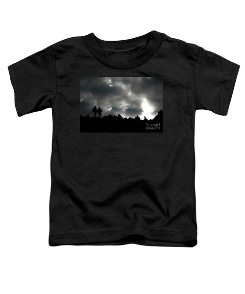 Silhouette Of Man On The Pass Himalayas Yantra.lv Toddler T-Shirt