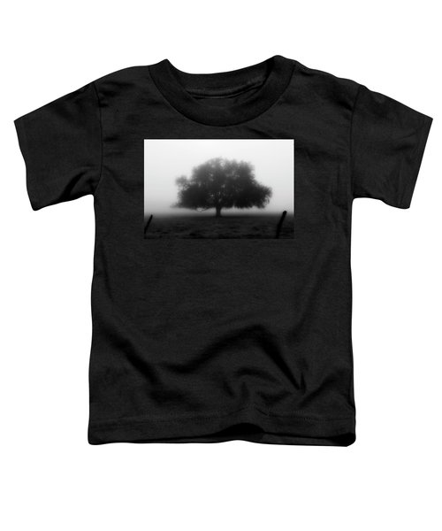 Silhouette Of Tree In Field Toddler T-Shirt