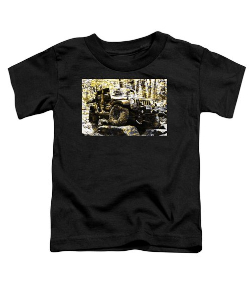 Silver And Gold Jeep Wrangler Jku Toddler T-Shirt