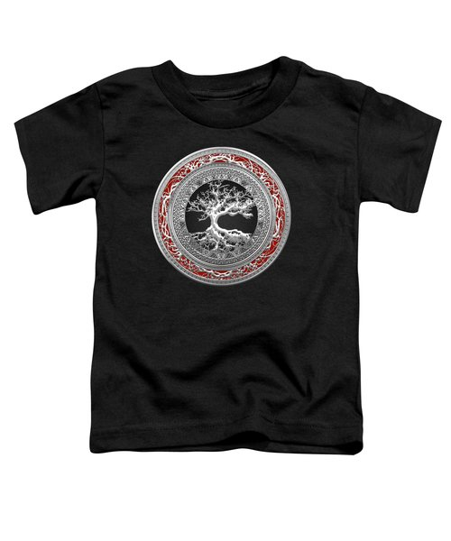 Silver Celtic Tree Of Life Toddler T-Shirt