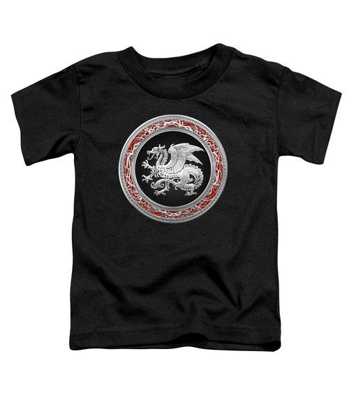 Silver Icelandic Dragon  Toddler T-Shirt