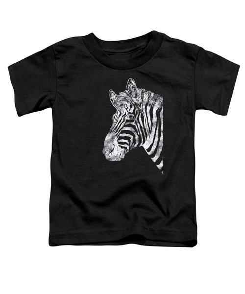 Silver Zebra, African Wildlife, Wild Animal In Silver Gilt Toddler T-Shirt by Tina Lavoie