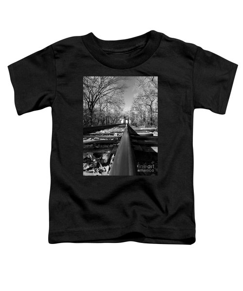 Single Track Mind - Black And White Toddler T-Shirt