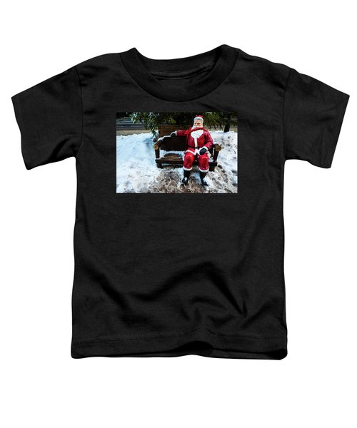 Sit With Santa Toddler T-Shirt