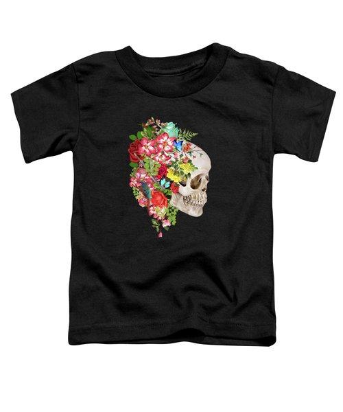 Skull Floral Toddler T-Shirt