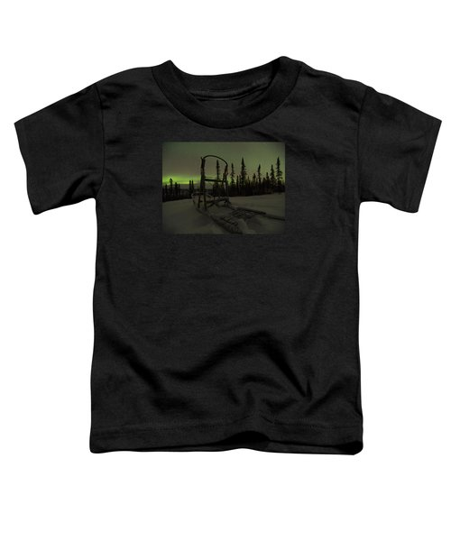 Sled Skeleton Aurora Toddler T-Shirt