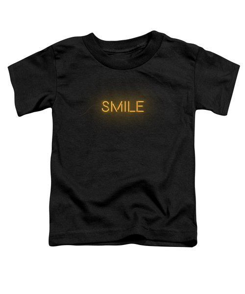 Smile Word In Neon Style Orange Light Toddler T-Shirt