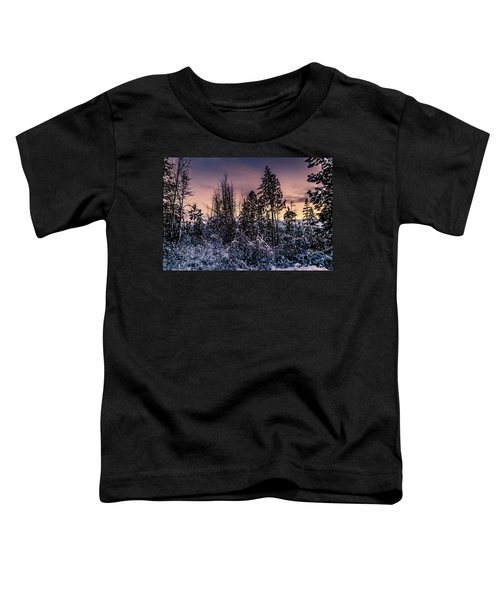 Snow Covered Pine Trees Toddler T-Shirt