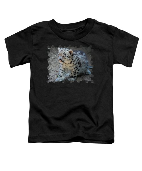 Snow Leopard Cub Paws Border Toddler T-Shirt by Terry DeLuco