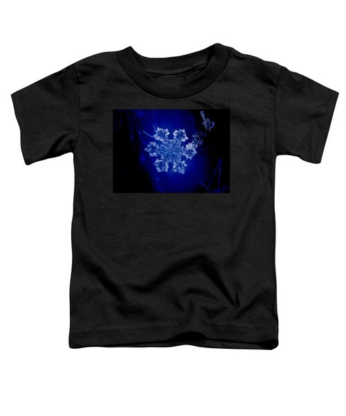 Snowflake On Blue Toddler T-Shirt