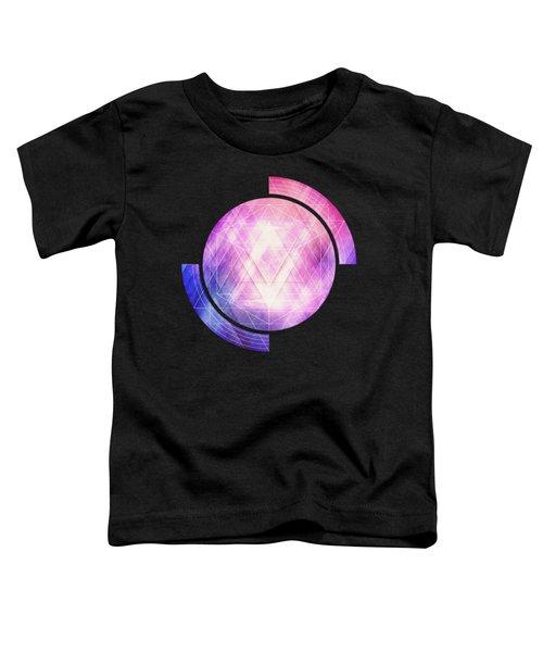 Soft Modern Fashion Pink Purple Bluetexture  Soft Light Glass Style   Triangle   Pattern Edit Toddler T-Shirt
