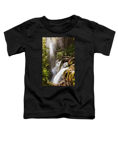 Toddler T-Shirt featuring the photograph Sol Duc Falls by Adam Romanowicz