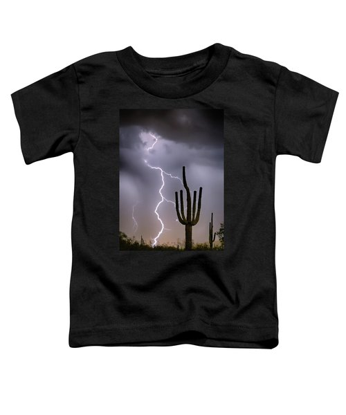 Toddler T-Shirt featuring the photograph Sonoran Desert Monsoon Storming by James BO Insogna
