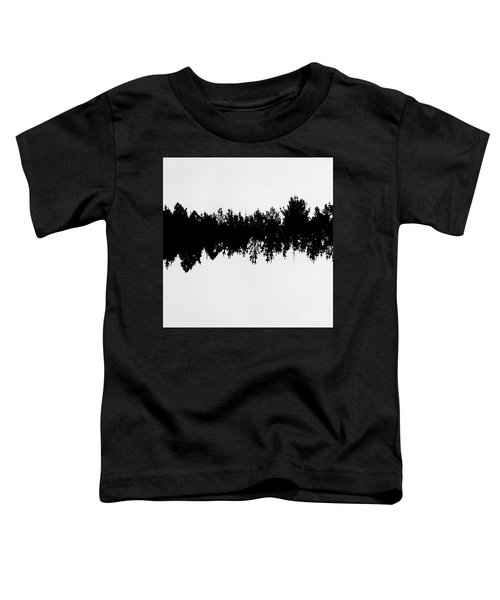 Sound Waves Made Of Trees Reflected Toddler T-Shirt