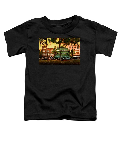 South Beach Ocean Drive Toddler T-Shirt