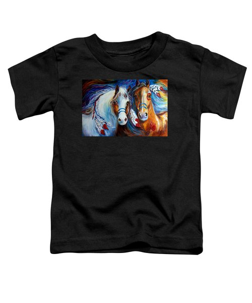 Spirit Indian War Horses Commission Toddler T-Shirt
