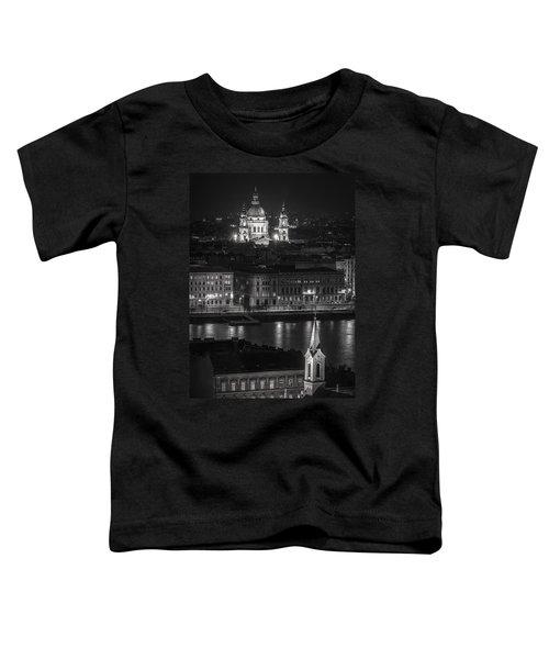 St Stephens Basilica Night Bw Toddler T-Shirt