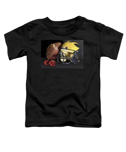 Stan Edwards's Autographed Helmet With Roses Toddler T-Shirt