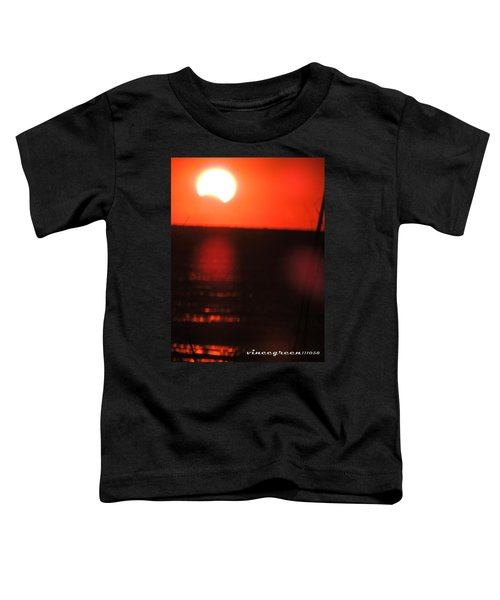 Staring Into A Star Eclipsed Toddler T-Shirt