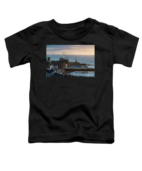 Starlings Over Aberystwyth On The West Wales Coast Toddler T-Shirt