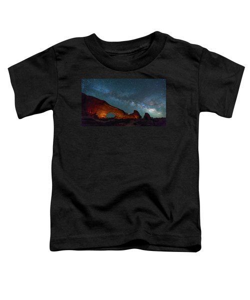 Starry Night At North Window Rock Toddler T-Shirt