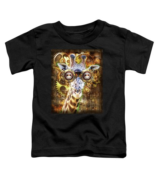 Steam Punk Giraffe Toddler T-Shirt