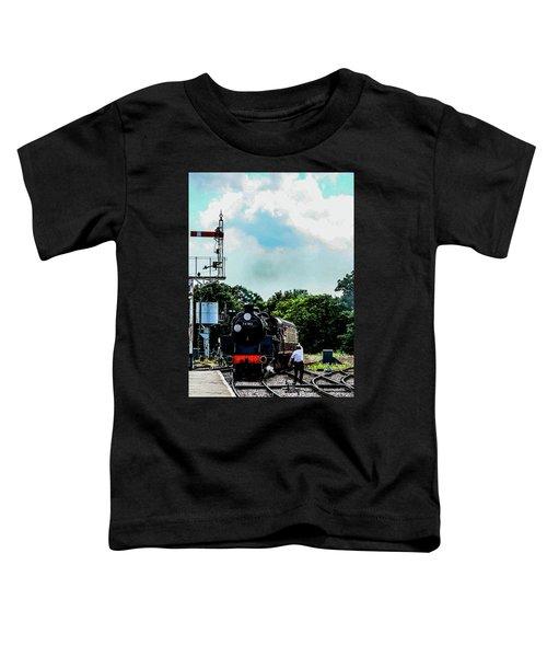 Steam Train Approaching Toddler T-Shirt