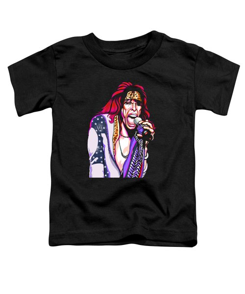Steven Tyler Of Aerosmith Toddler T-Shirt by GOP Art