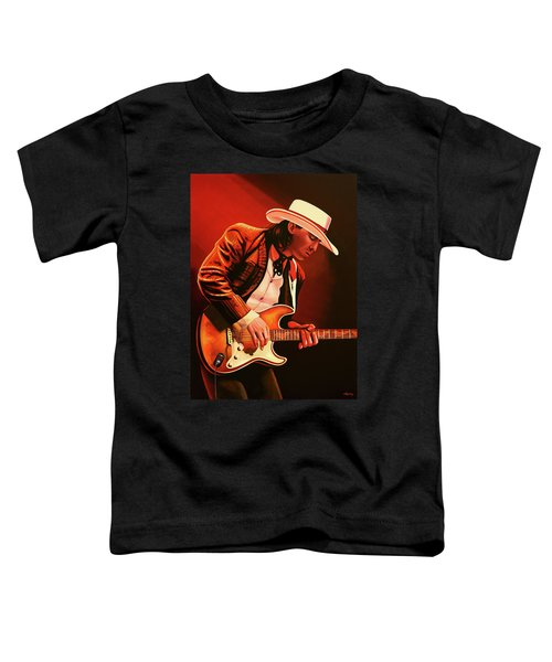 Stevie Ray Vaughan Painting Toddler T-Shirt