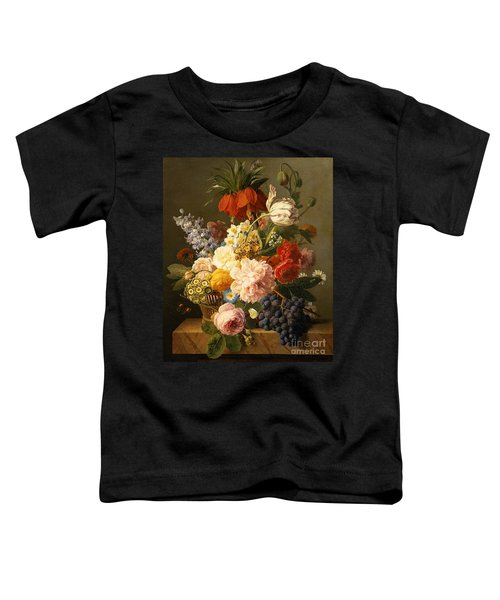 Still Life With Flowers And Fruit Toddler T-Shirt