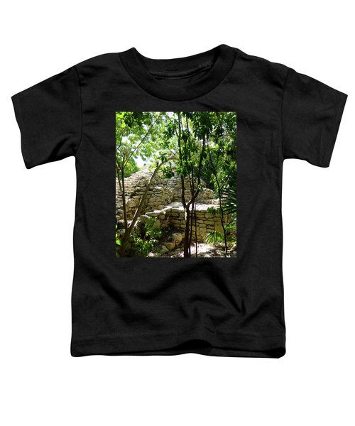 Toddler T-Shirt featuring the photograph Stone Steps In The Jungle by Francesca Mackenney