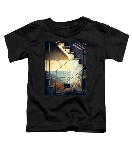 Toddler T-Shirt featuring the photograph Stone Steps Outside An Old House by Silvia Ganora