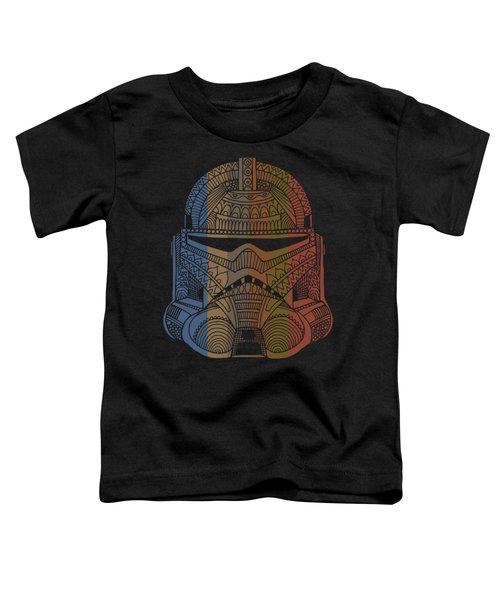Stormtrooper Helmet - Star Wars Art - Colorful Toddler T-Shirt