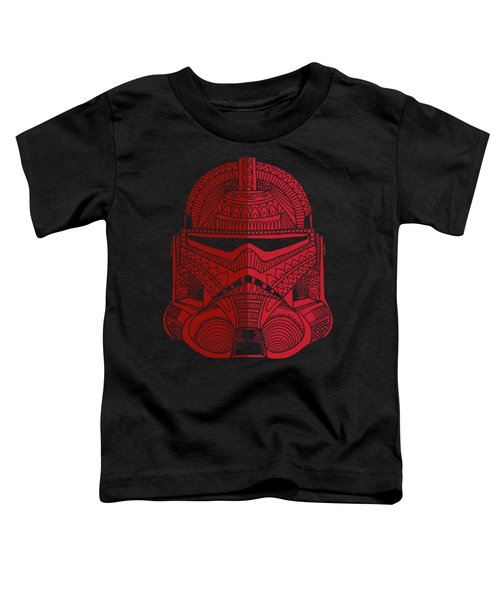 Stormtrooper Helmet - Star Wars Art - Red Toddler T-Shirt