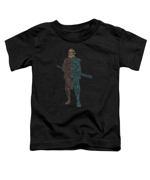 Stormtrooper Samurai - Star Wars Art - Minimal Toddler T-Shirt