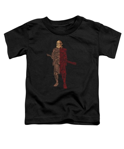 Stormtrooper Samurai - Star Wars Art - Red Brown Toddler T-Shirt