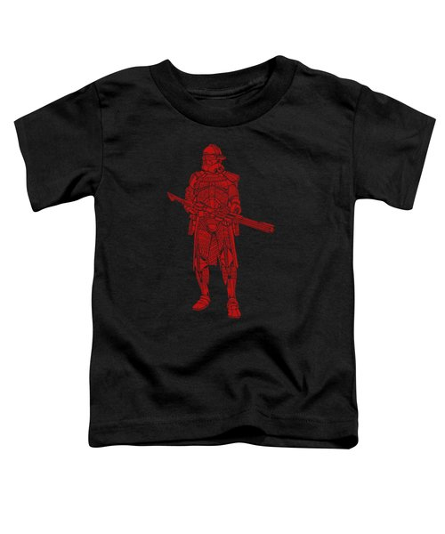 Stormtrooper Samurai - Star Wars Art - Red Toddler T-Shirt