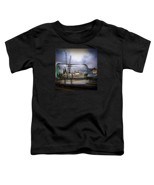Stormy Seas - Ship In A Bottle Toddler T-Shirt