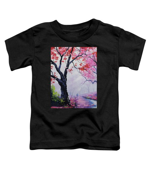 Stroll In The Mist Toddler T-Shirt