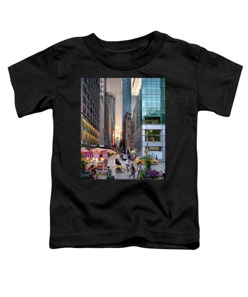Summer Evening, New York City  -17705-17711 Toddler T-Shirt