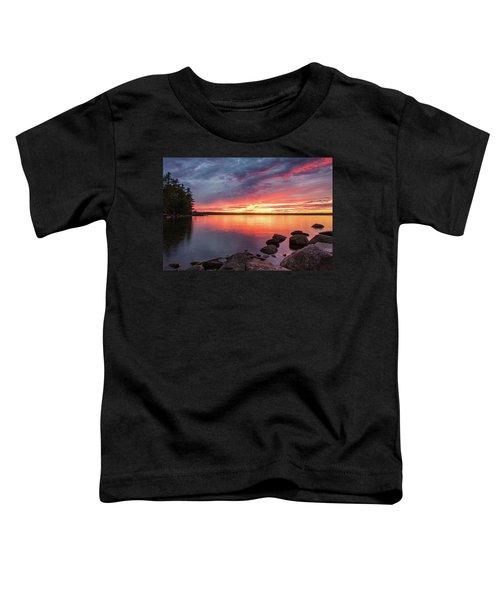 Summer Sets Over Sebago Lake, Maine Toddler T-Shirt