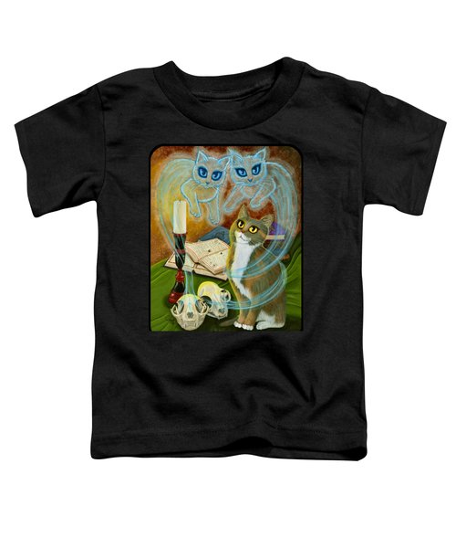 Summoning Old Friends - Ghost Cats Magic Toddler T-Shirt